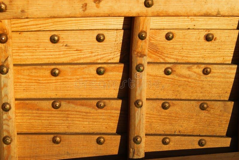 Parte del guscio di una barca a vela dall'interno immagini stock