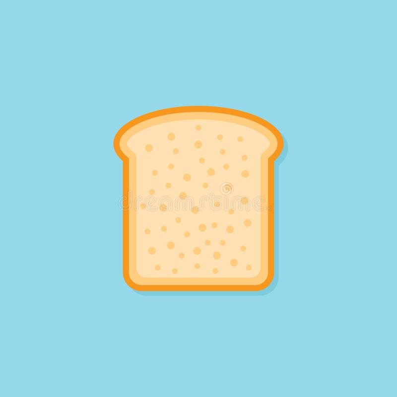 Parte del icono plano del estilo del pan de la tostada Ilustración del vector fotos de archivo libres de regalías