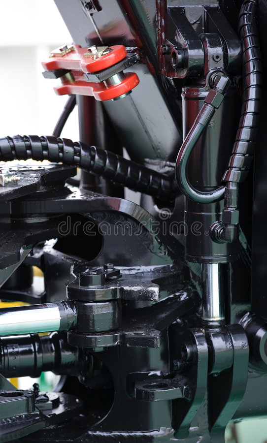 Parte del meccanismo del trattore fotografia stock