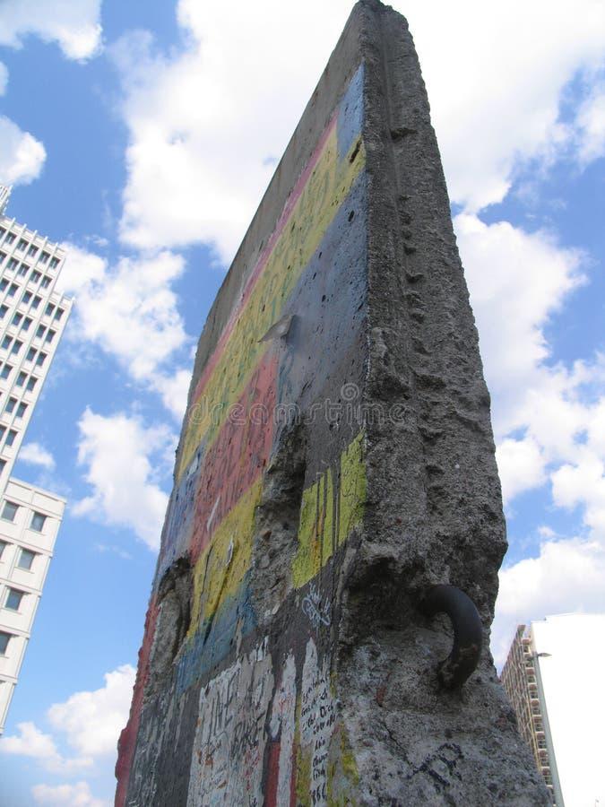 Parte del muro di Berlino fotografia stock