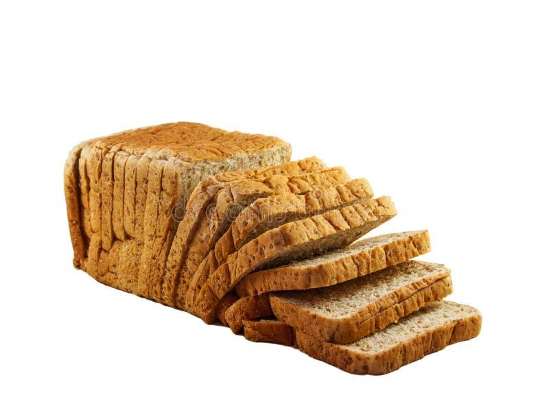 Parte del pan del fondo blanco imagen de archivo libre de regalías