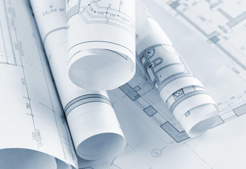 Parte del progetto architettonico fotografia stock for Software di piano architettonico