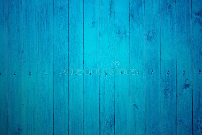 Parte del recinto di legno blu fotografie stock
