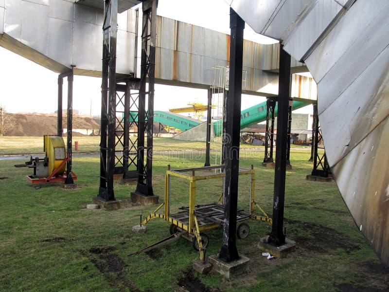 Parte del rifornimento del sito dell'installazione di carbone dal carbone a Th fotografia stock libera da diritti