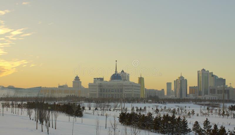 Parte del riscaldamento centrale della città di Astana immagini stock