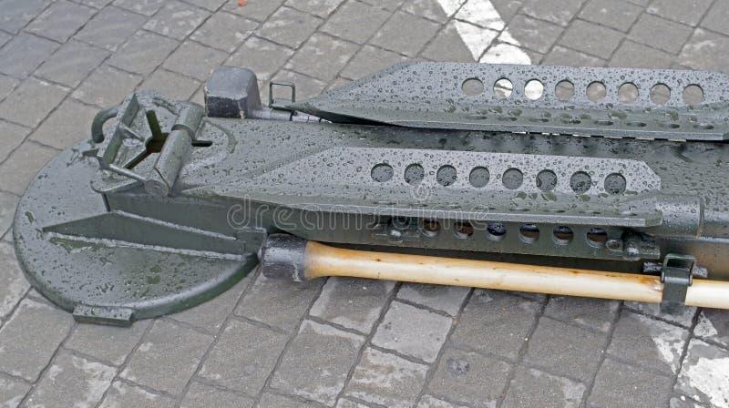 Parte del trasporto del cannone moderno fotografia stock