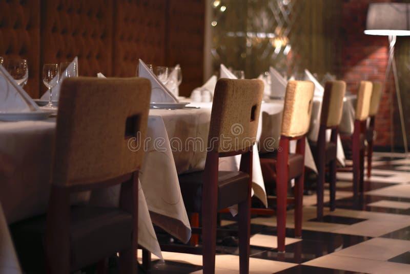Parte dell'interiore del ristorante immagine stock