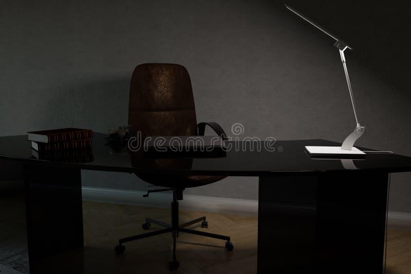 Parte dell'interno dell'ufficio del gabinetto funzionante immagine stock