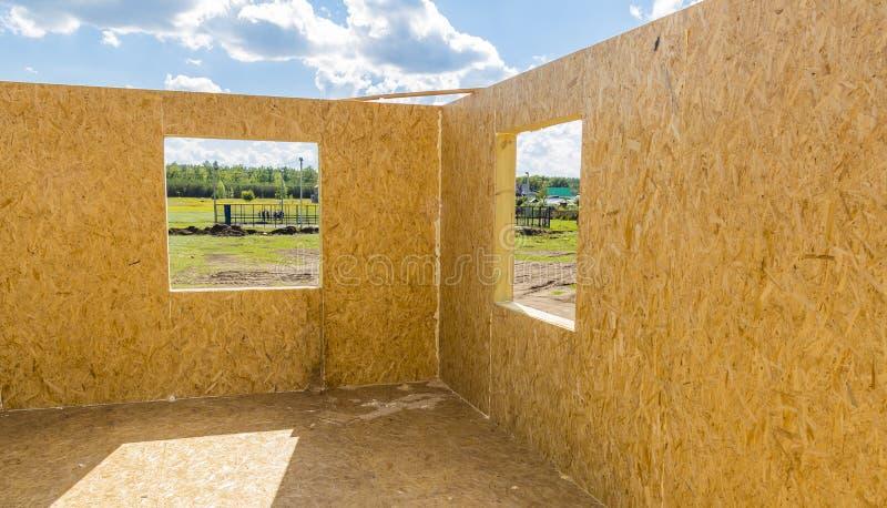 Parte della casa in costruzione immagine stock