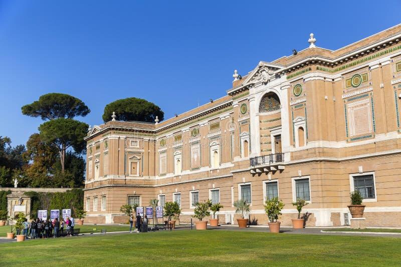 Parte della costruzione del museo del Vaticano fotografie stock libere da diritti