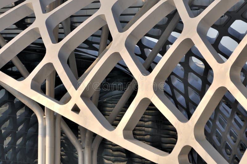 Parte della costruzione della struttura d'acciaio fotografia stock libera da diritti