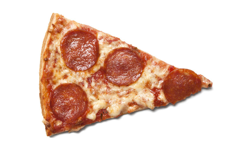 Parte della pizza del salame immagini stock