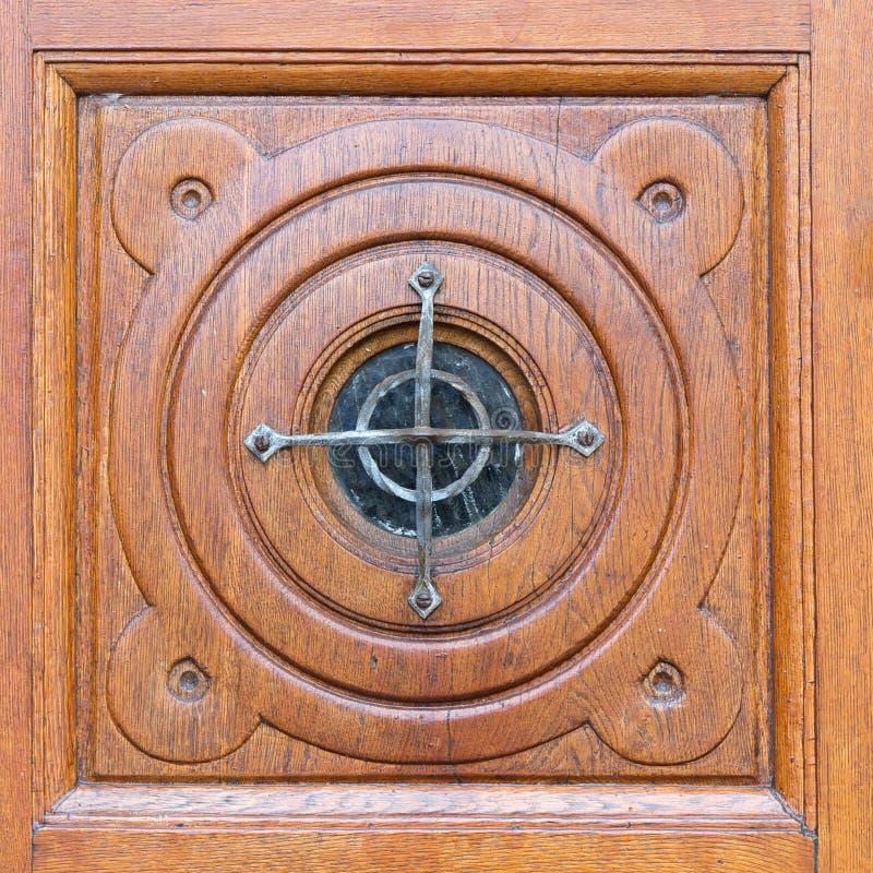Parte della porta della chiesa fotografia stock libera da diritti