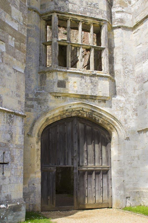 Parte delle rovine antiche del secolo Tudor Titchfield Abbey di the13th a Titchfield, Fareham nel Hampshire nella nuova foresta n fotografia stock