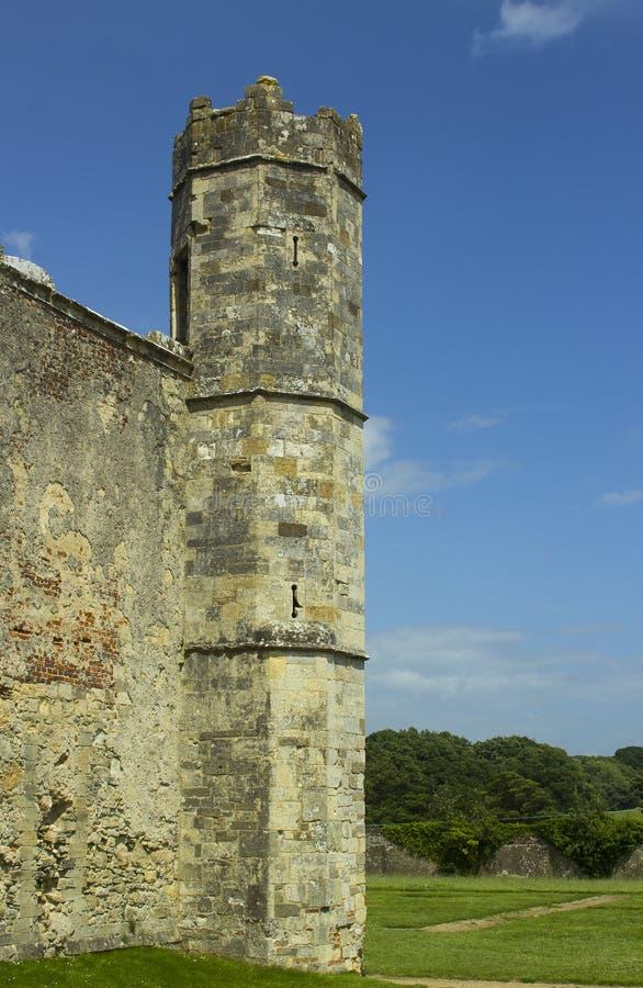 Parte delle rovine antiche del secolo Tudor Titchfield Abbey di the13th a Titchfield, Fareham nel Hampshire nella nuova foresta n fotografia stock libera da diritti