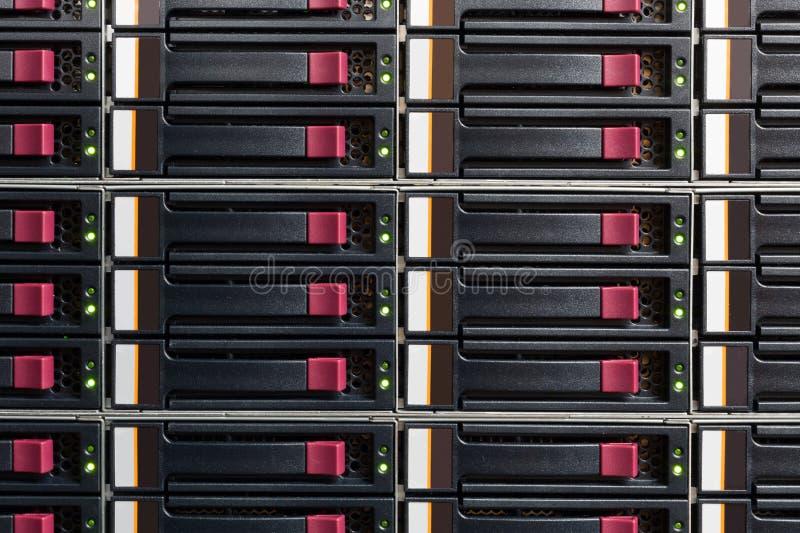 Parte dello scaffale del server immagini stock libere da diritti