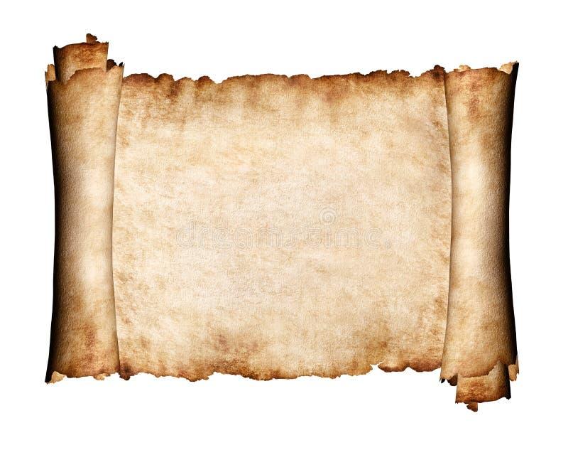Parte desdobrada de fundo do papel da antiguidade do pergaminho