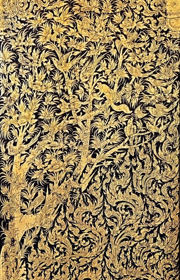 Parte di Art Antique Gild Lacquer tailandese fotografie stock libere da diritti