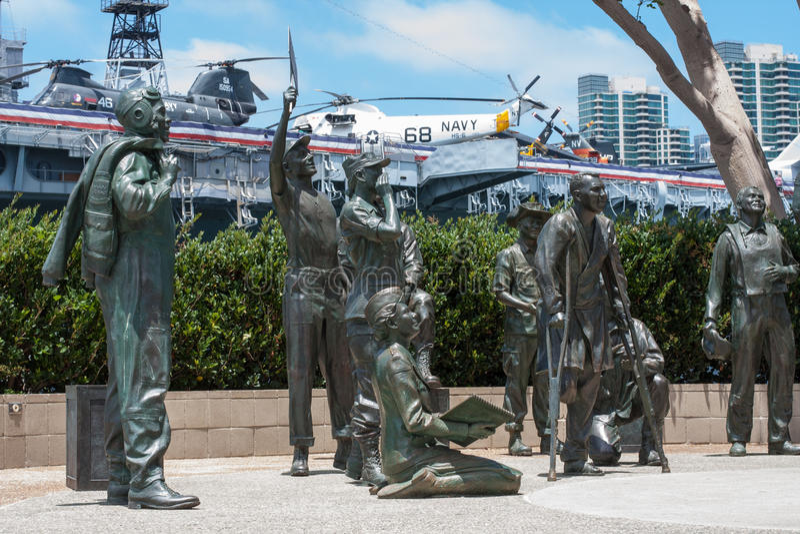 Parte di Bob Hope Memorial a San Diego Harbor immagine stock libera da diritti