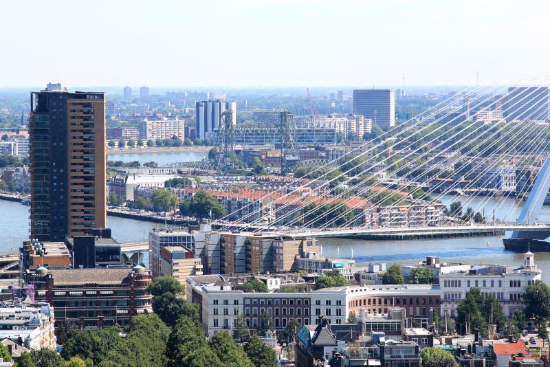 Parte di Erasmus Bridge a Rotterdam, Paesi Bassi fotografia stock