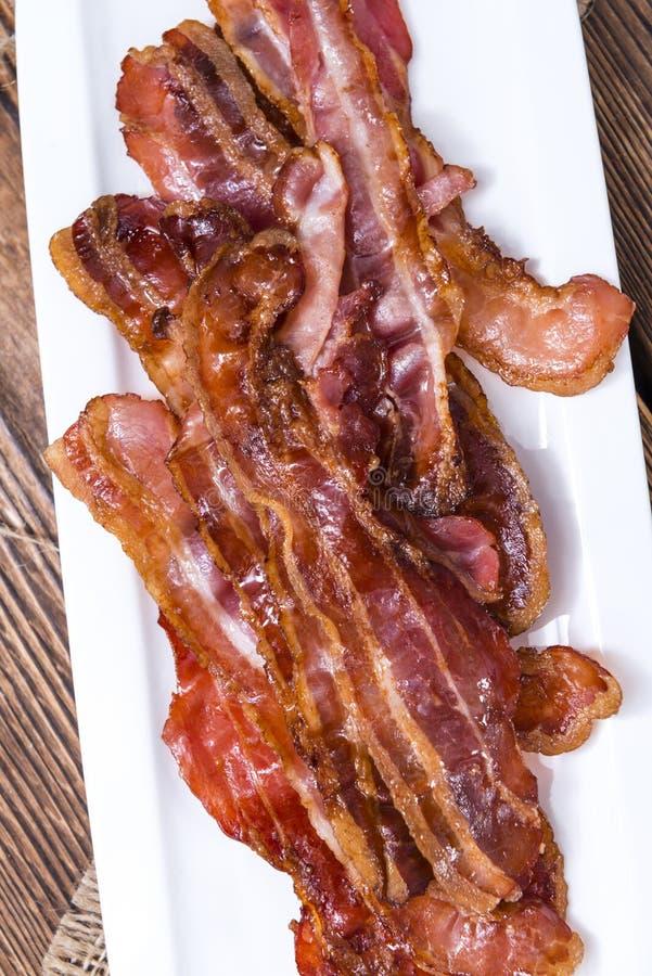 Parte di Fried Bacon fotografia stock