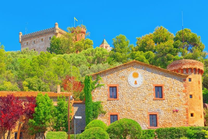 Parte di Hstoric della cittadina sulle periferie di Barcellona-CAS immagini stock libere da diritti