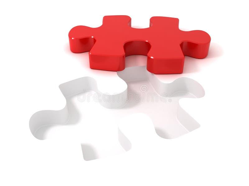 Parte di puzzle del puzzle royalty illustrazione gratis