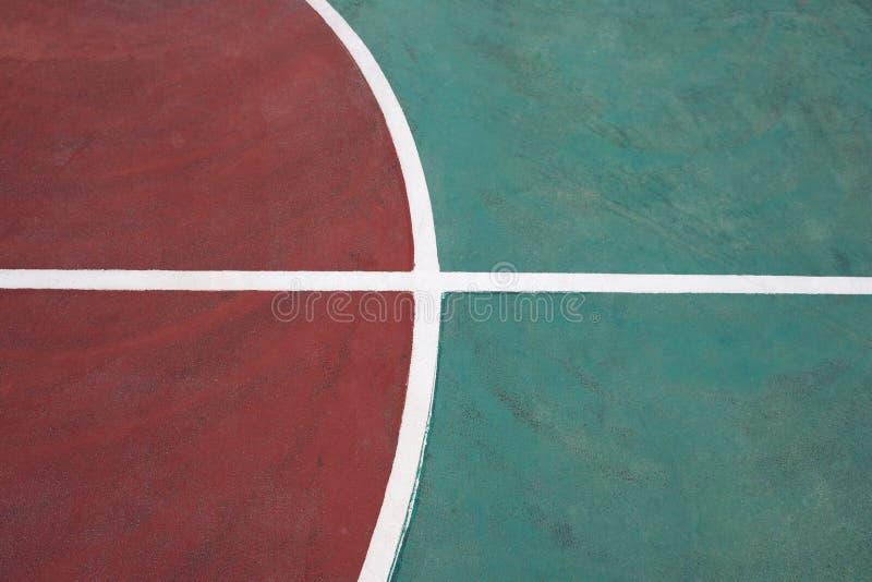 Parte di un campo da pallacanestro fotografia stock