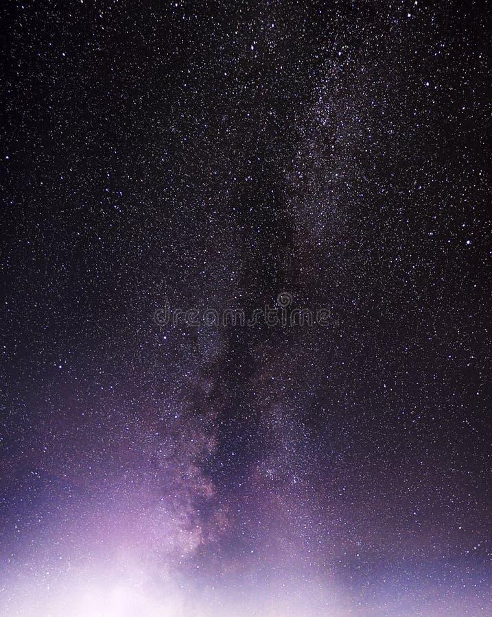 Parte di un cielo notturno con le stelle e la Via Lattea fotografie stock