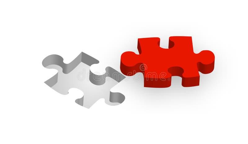 Parte di un puzzle illustrazione di stock
