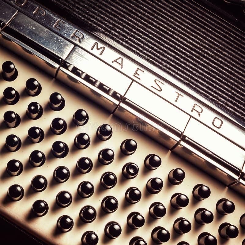 Parte di vecchia fisarmonica fotografie stock libere da diritti