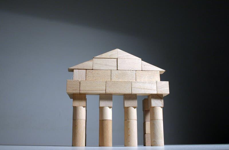 Parte dianteira antiga do templo fotografia de stock