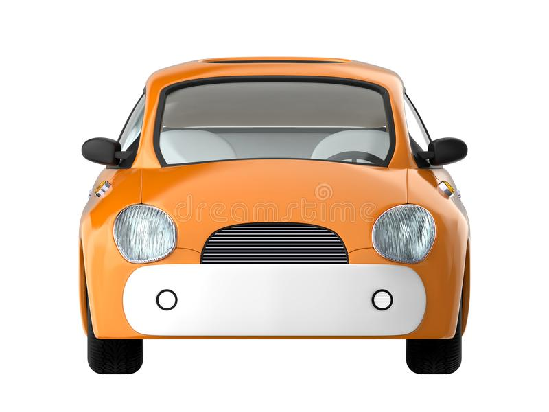Parte dianteira bonito pequena do carro ilustração royalty free
