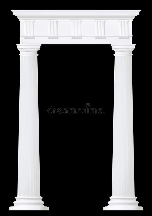 Parte dianteira com coluna doric ilustração royalty free
