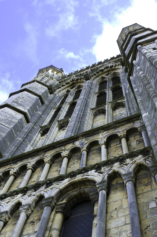 Parte dianteira da catedral de Lincoln foto de stock royalty free