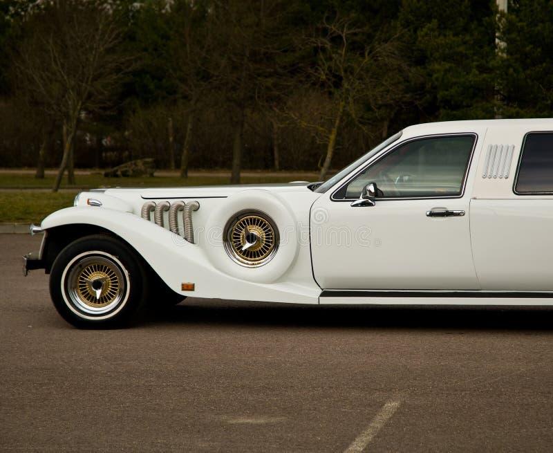 Parte dianteira da limusina do vintage fotos de stock royalty free