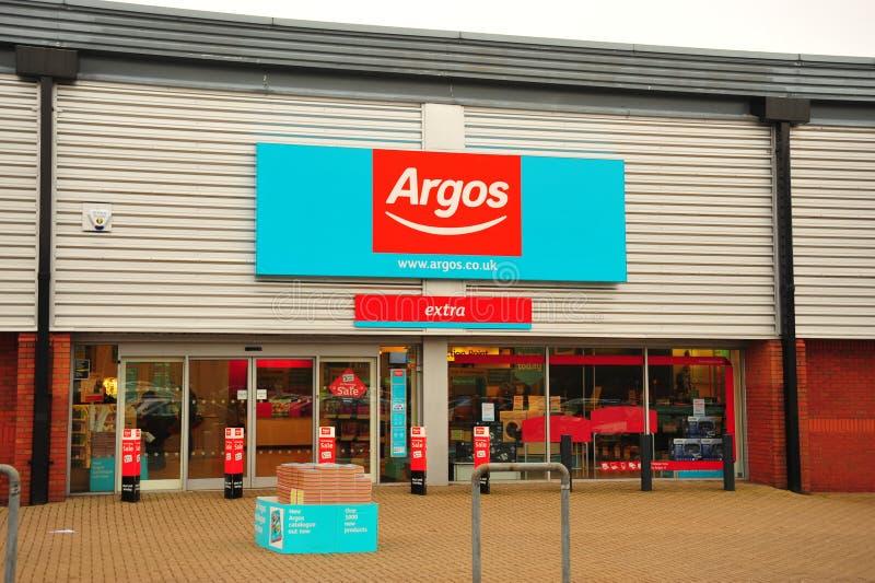 Parte dianteira da loja de Argos fotografia de stock royalty free