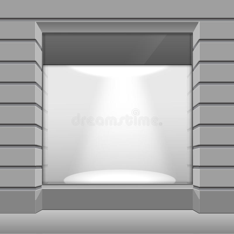Parte dianteira da loja do boutique da loja do vetor com janela grande ilustração do vetor