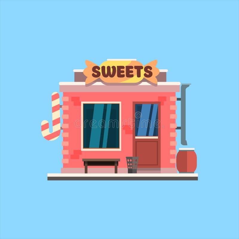 Parte dianteira da loja dos doces Ilustração do vetor ilustração royalty free