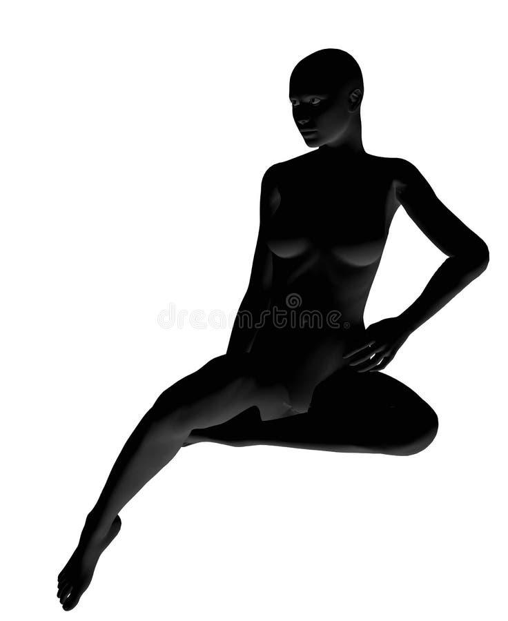 Parte dianteira de assento do pose ilustração do vetor
