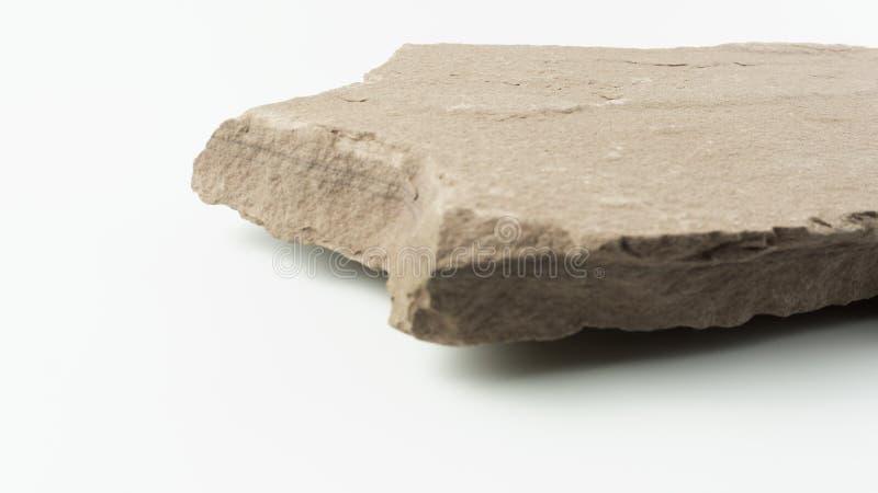 A parte dianteira de pedra da textura do espaço vazio borrou o fundo branco fotografia de stock