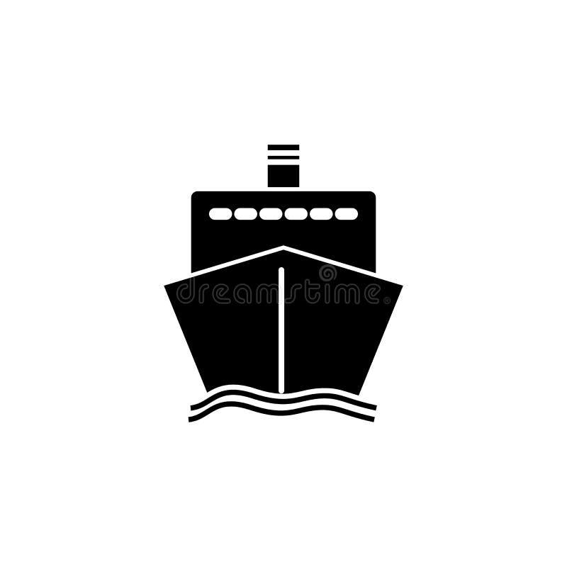 Parte dianteira do ícone do navio ilustração stock
