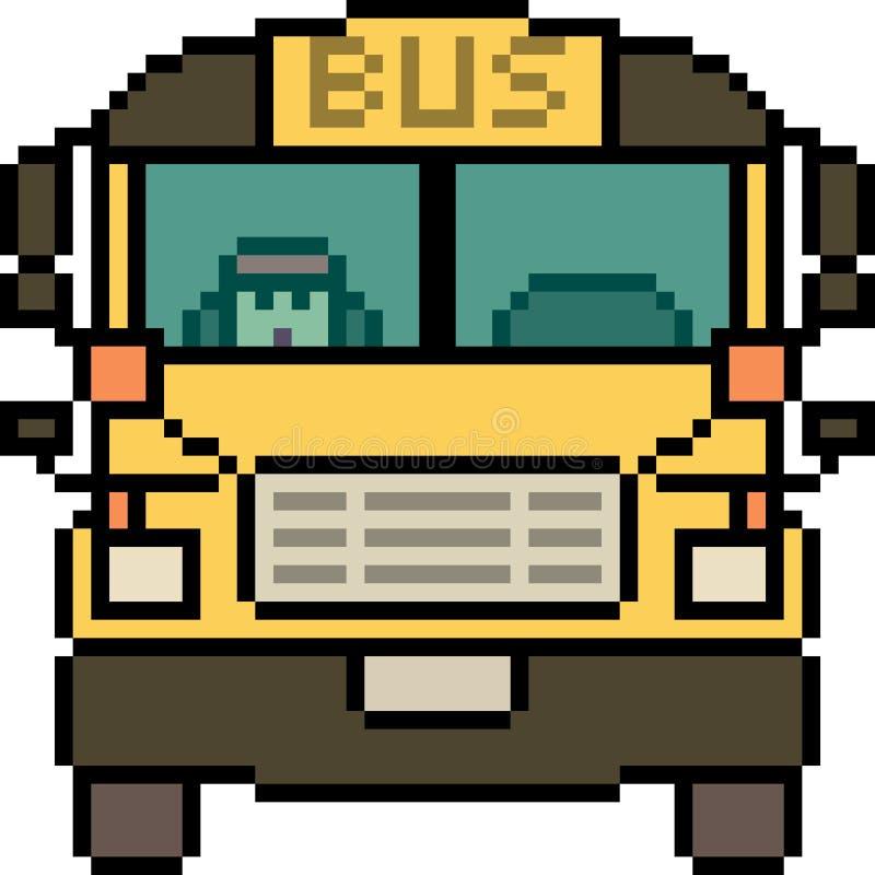 Parte dianteira do ônibus da arte do pixel do vetor fotografia de stock