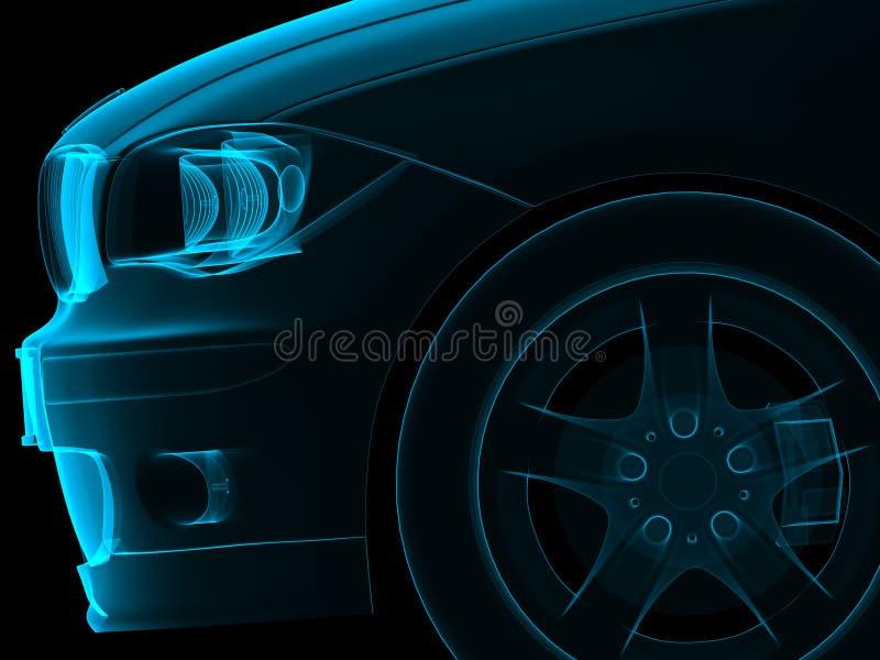 Parte dianteira do carro ilustração do vetor