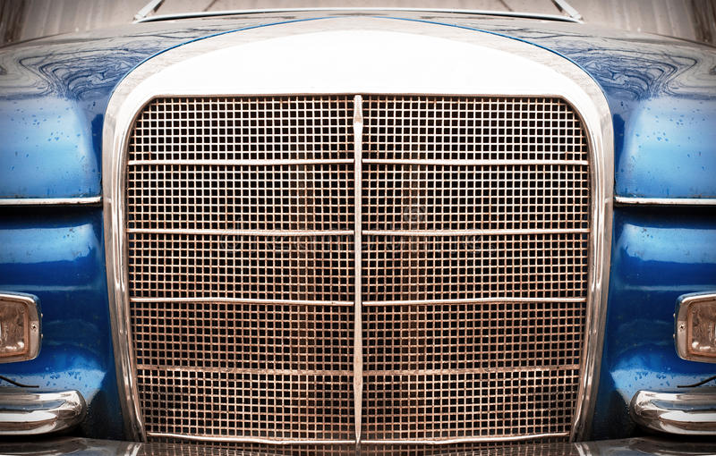 Parte dianteira do carro do vintage imagem de stock