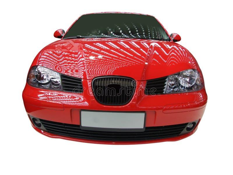 Parte dianteira do carro vermelho fotos de stock
