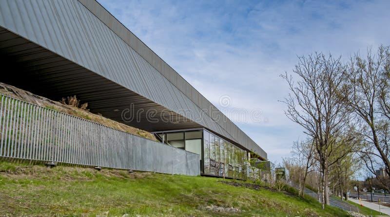 Parte dianteira do estádio de futebol de Montreal fotos de stock royalty free