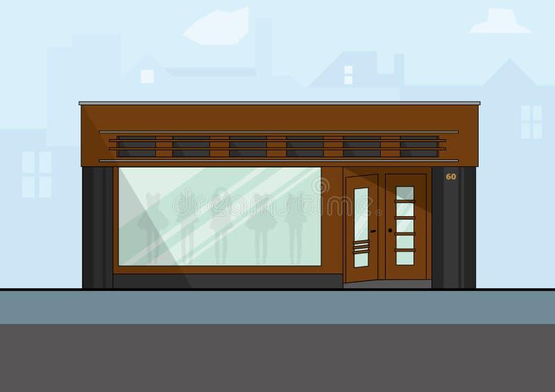Parte dianteira do estilo antigo de uma loja da forma em Amsterdão imagens de stock