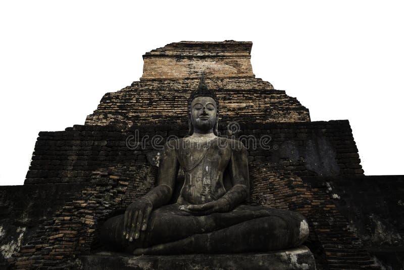 Parte dianteira do pagode velho do whit da Buda foto de stock