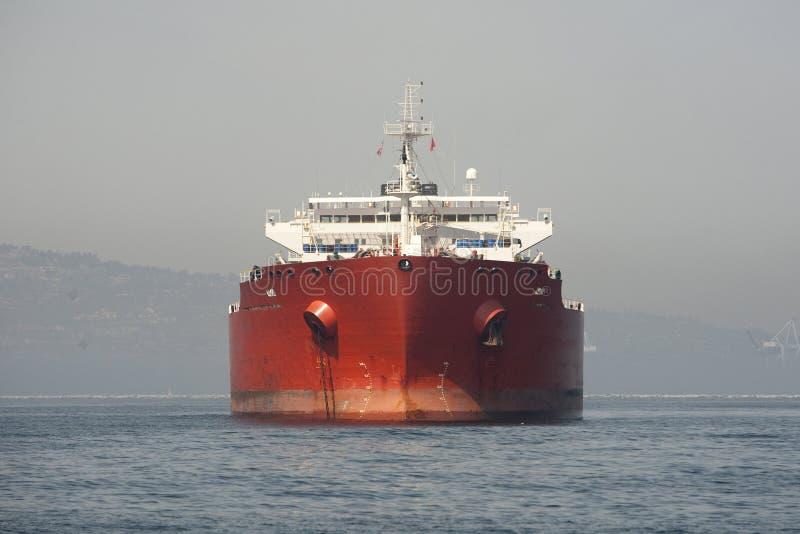 Parte dianteira do petroleiro de petróleo fotos de stock royalty free